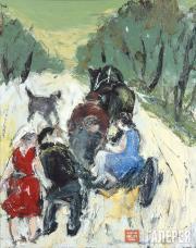 Slepyshev Anatoly. A Scene on the Road. 2003