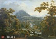 Matveyev Fyodor. Waterfalls. Sicily. 1814