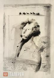 Dmitry TEREKHOV. Portrait of Alexander Pushkin. 1989