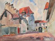 Alexander Siegfried Borchardt Levy-Benois di Stetto. Townscape. 1943