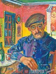 David Burliuk. Café de Nuit. 1949