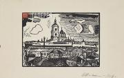 Favorsky Vladimir. A View of Moscow. Novospassky Monastery. 1918