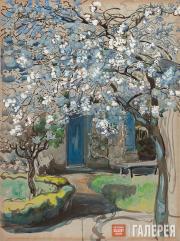 Yakunchikova Maria. Flowering Apple Trees. Tree in Bloom. 1899