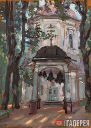 Якунчикова Мария. Церковь в старой усадьбе. Черемушки, близ Москвы. 1897
