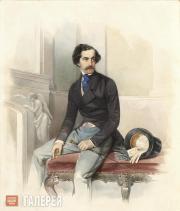 Gau Vladimir. Portrait of Alexei Stolypin (Mongo)