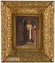 Верещагин Василий. Икона Николы с верховьев реки Пинеги. 1894