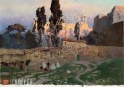 Polenov Vasily. Constantinople (Istanbul). Eski Saray Gardens. 1882
