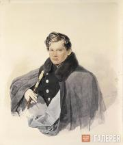 Sokolov Pyotr. Portrait of Prince Sergei Trubetskoy