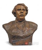 Golubkina Anna. Portrait of Alexei Tolstoy. 1911