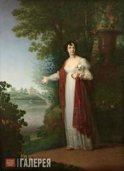 Borovikovsky Vladimir. Portrait of Darya Derzhavina. 1813