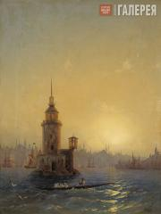 Aivazovskiy Ivan. View of the Maiden's Tower (Leander's  Tower), Constantinople.
