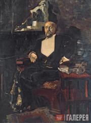 Михаил Врубель. Портрет Саввы Ивановича Мамонтова. 1897