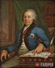 Borovikovsky Vladimir. Portrait of Gavriil Derzhavin. 1795