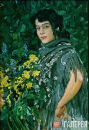 Golovin Alexander. A Spanish Woman with a Bunch of Yellow Flowers. 1906-1907
