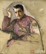 Serov Valentin. Portrait of Sergei Diaghilev. 1904 (unfinished)