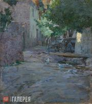 Tatevosyan Yegishe. Yard with Pigeons (A Yard in Byurakan). 1898