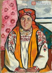 Goncharova Natalia. Peasant Woman from Tula Province. 1910