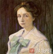 Kandinsky Wassily. Portrait of Gabriele Münter. 1905