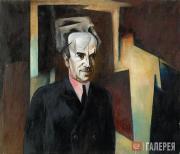 Denisovsky Nikolai. Portrait of David Shterenberg. 1923