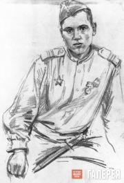 Tsigal Viktor. Sergeant of the Guard N. Sviridov