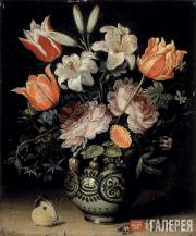 Jan BRUEGHEL.  Vase with Flowers