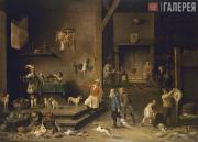 David Teniers II (1610-1690). Kitchen. 1646