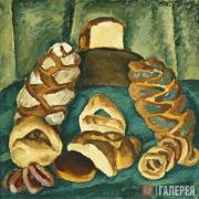 Кончаловский Петр. Хлебы на зеленом. 1913