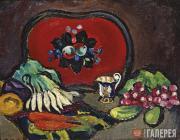 Кончаловский Петр. Поднос и овощи. 1910
