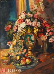 Коровин Константин. Натюрморт. Розы. 1916