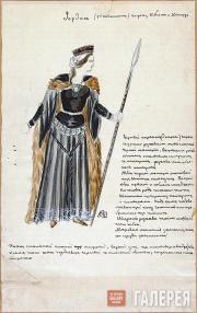 Konstantin Shilovsky. Henrik Ibsen. The Vikings at Helgeland. Study for Hjørdis'