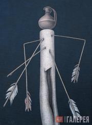 Д.М.КРАСНОПЕВЦЕВ. Натюрморт со стрелами. 1969