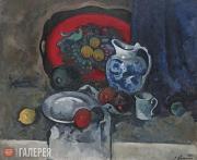 Куприн Александр. Натюрморт с красным подносом и кувшином. 1930