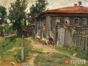 Korovin Konstantin. A Corner in the Provinces (A Street in Pereslavl). 1905