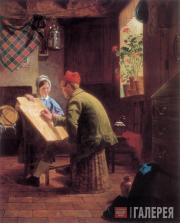 JAMES COLLINSON. The Writing Lesson. 1855