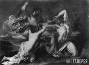 Этти Уильям. Битва. Женщина, молящая о пощаде побежденных. 1825