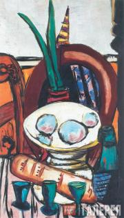 Max BECKMANN. Still-life with Three Glasses. 1944