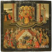 Неизвестный художник. Богоматерь Живоносный источник. Конец XVII – начало XVIII