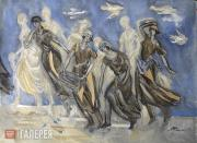 """Maria Fedorova. Costume design for the """"Women Workers"""" triptych, the play """"The W"""