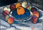 Mashkov Ilya. Still Life. Fruit on a Tray. 1910