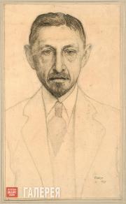 Bakst Léon. Portrait of Ivan Bunin. 1921