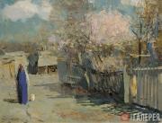 Герасимов Cергей. Весна. Деревья в цвету. Самарканд. 1942
