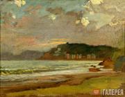 Морской залив в Ливорно. Закат солнца. 1862