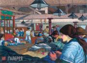 Чарльз ДЖИННЕР. Швейная фабрика. Около 1914