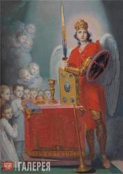 В.Л.Боровиковский.  Дети у престола, охраняемые архангелом Михаилом