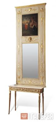 Mirror with pier table. Last quarter of the 18th century