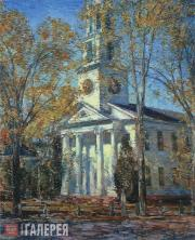 Hassam Childe. Church at Old Lyme. 1906