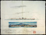 Ivanov Sergei. Pompeii. The Villa Diomida by the Herculanean Gate. 1840s