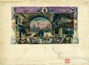 Щусев Алексей. Застава старого Парижа. Картина I, действие I. 1926–1927