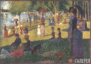 George SEURAT. Study for the Painting «Summer Sunday Afternoon on the Island of