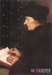 Hans Holbein the Younger. Portrait of Erasmus of Rotterdam. 1523